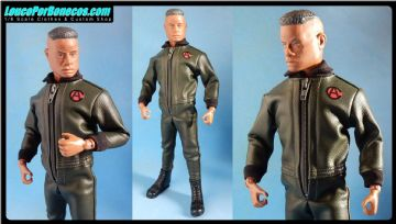 LoucoPorBonecos - Gi Joe Super Joe Falcon - GREEN LEATHER JUMPSUIT
